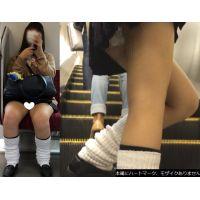 [無劣化FHD]電車からの風景〜かわいい顔ときれいな足のJK(フルHD)