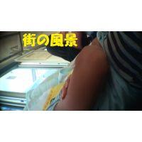 HD盗撮風[オリジナル]プールでお疲れ電車で寝ているJK