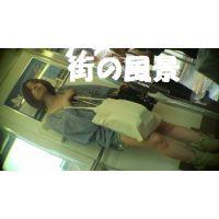 HD盗撮風[オリジナル]電車で立っている生足のきれいなお姉さん?