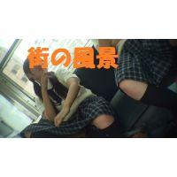 HD盗撮風[オリジナル]電車のJK?(パンモロ編)