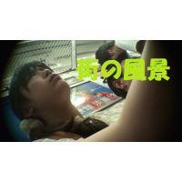 HD盗撮風[オリジナル]電車で寝ている清楚なお姉さんを下から太ももの毛穴まで?