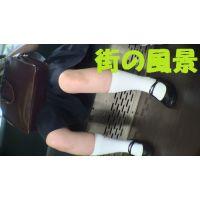 HD盗撮風[オリジナル]お下げハイソックスJK電車で居眠り?