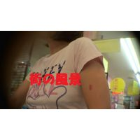 HD盗撮風[オリジナル]バストライン丸出しの若奥さん