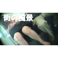 HD盗撮風[オリジナル]電車で熟睡ショートパンツのお姉さん?
