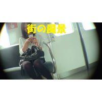 HD盗撮風[オリジナル]電車で吉高似ニーハイ美人なお姉さん?