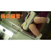 HD盗撮風[オリジナル]電車で寝ているお姉さん股開き?