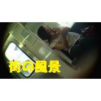 HD盗撮風[オリジナル]電車で落ち着きのない美人なお姉さん