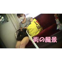 HD盗撮風[オリジナル]電車のマスクミニスカのお姉さん