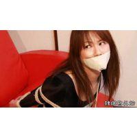 柳澤沙耶香 レオタード テープギャグ(白) ボールタイ1