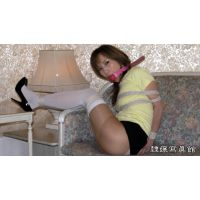 ボールギャグの女 - キリカ ミニスカート オーバーニーソックス 緊縛 ボールギャグ2種