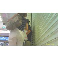 【動画003】白パンツ Tバック