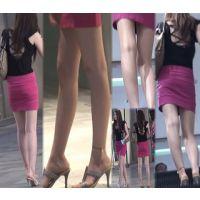 【HD動画】ミニスカ美脚とエスカレーター
