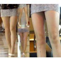 【HD動画】素晴らしきミニスカ美脚とエスカレーター