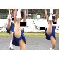 キュートな青アンスコ!美少女チアガールイベント演技 168-2