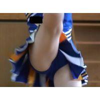 キュートな青アンスコ!美少女文化祭チアダンス演技 72-7