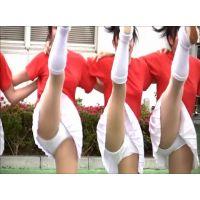 幻の白アンスコ!美少女チアガール演技 168-1