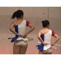 純白の小さいアンスコ!美少女新体操部文化祭演技