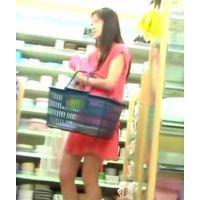 上下ピンクでお買い物さらにTバックもピンクw【高画質パンチラ動画】804 ロング作品