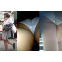 学生風,スカートめくり,パンモロ,パンチラ,パンツ,逆さ撮り,JD, Download