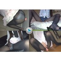 【フルHD】黒タイツオナニーVol.1 花柄ミニスカ&デニムショーパン 20140511