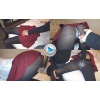 【フルHD】おさわり黒タイツVol.13 黒タイツ&フレアミニスカート 20140310