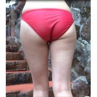 期間限定【AVCHD高画質 60p】水着 若い娘さんの赤ビキニ姿