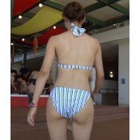 リクエスト【AVCHD.60i高画質】ビキニ尻 人気のママさんのビキニ尻 69