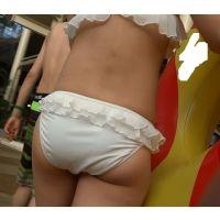 限定【AVCHD.60i 高画質】ビキニ 若い娘さんの白ビキニ尻 606