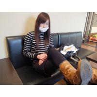 激カワ本物女子高生♡靴下プレゼント付き「ブーツでニーハイ汗ビチャビチャですよ」18歳さきちゃん私服黒スト足フェチ写真