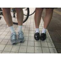2人組本物制服高校生「靴下ならいいですよ」16歳2人組足フェチ写真集