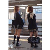 制服女子校生の通学風景 003 006 007 セット販売