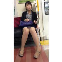 電車内の優先座席で爆睡する色っぽいOL(後編)