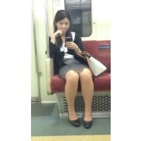 電車内の気が強そうなスーツ姿の美人OL(前編)