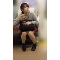 ハロウィンイベント帰りの可愛いミニスカ女子大生(其の三)