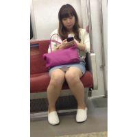 電車内のデニミニ美女の対面撮影(其の五)