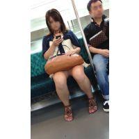 電車内のむちむち生脚おねえさん