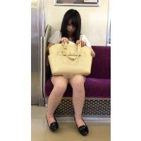今期No.1の傑作誕生!電車内のミニスカから白パ○ツ丸見えの可愛すぎるお姉さんを対面撮影(其の二)