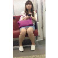 電車内のデニミニ美女の対面撮影(其の三)