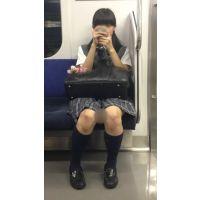 電車内のツインテールが可愛い優等生風の黒髪JK(其の四)