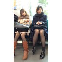 電車内のモデル風極上美女の無防備黒スト美脚(其の八)