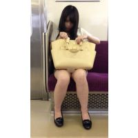 今期No.1の傑作誕生!電車内のミニスカから白パ○ツ丸見えの可愛すぎるお姉さんを対面撮影(其の一)