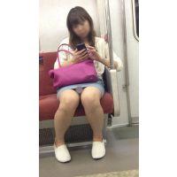 電車内のデニミニ美女の対面撮影(其の一)