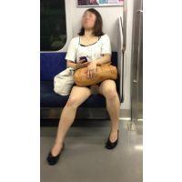 電車内の生脚をさらけだす真面目そうな大人のお姉さん(前編)