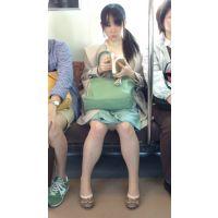 電車内の生脚ロリ娘(後編)