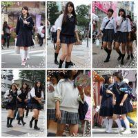 制服女学生のいる街風景 File009