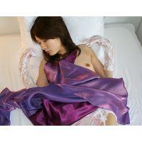 【綺麗なお姉さんシリーズ】紫のドレスを着せてオナニーしてもらった