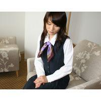 【綺麗なお姉さんシリーズ】旅行会社のOL制服とスリップを着せてオナニーしてもらった