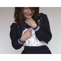 【綺麗なお姉さんシリーズ】紺セーラー服とスリップを着せてオナニー&悪戯&クンニ