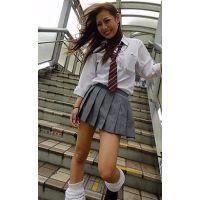 ■街のスカート短すぎ女子高生■