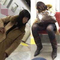 【再販】綺麗なお姉さんを覗いてみた・・No.16(電車睡眠パンチラ編)